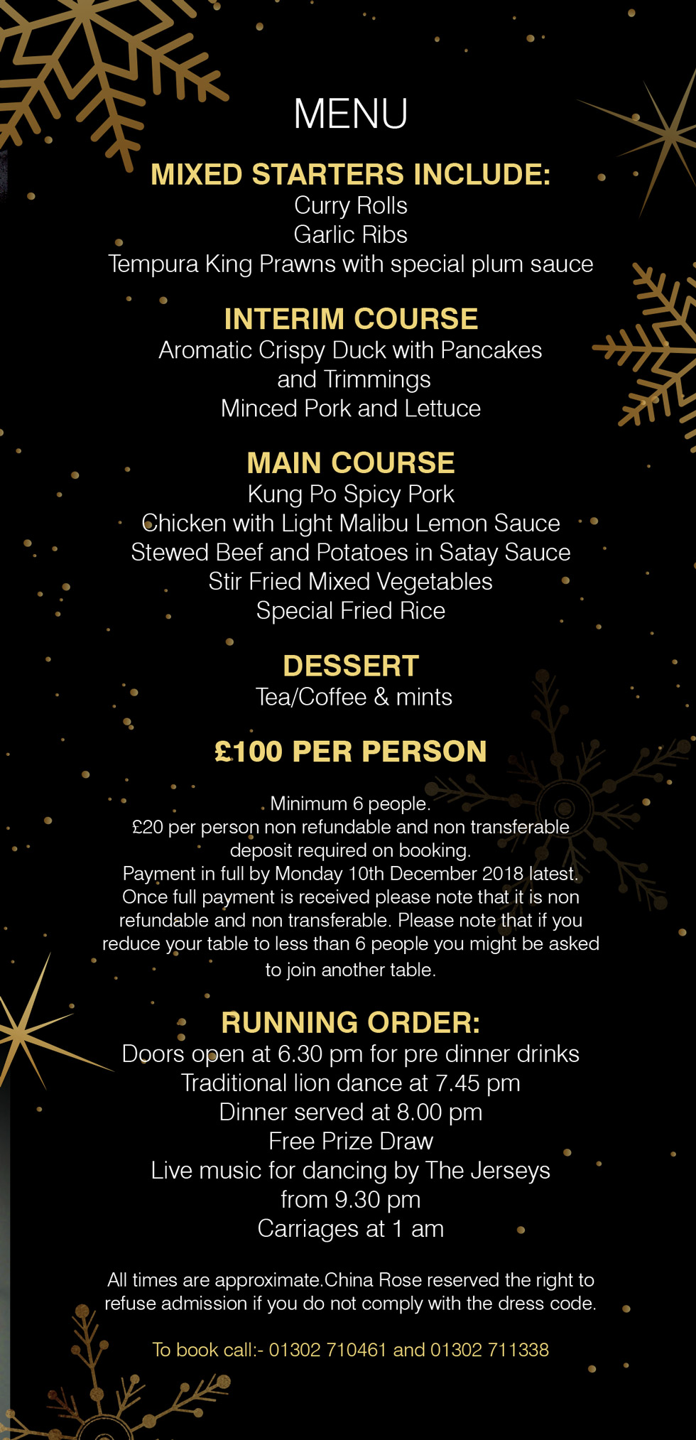 New Years Eve at the China Rose Doncaster